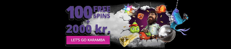 Casinokampanj med bonus och free spins